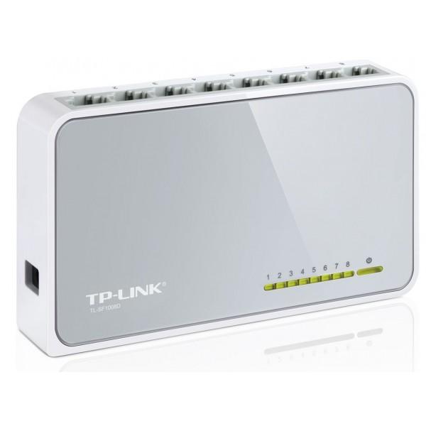 TP-LINK Desktop Switch TL-SF1008D, 8-port 10/100Mbps, Ver. 9.0