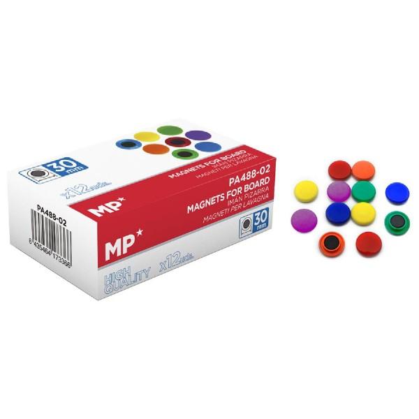 MP χρωματιστός μαγνήτης PA488-02, 30mm, 12τμχ